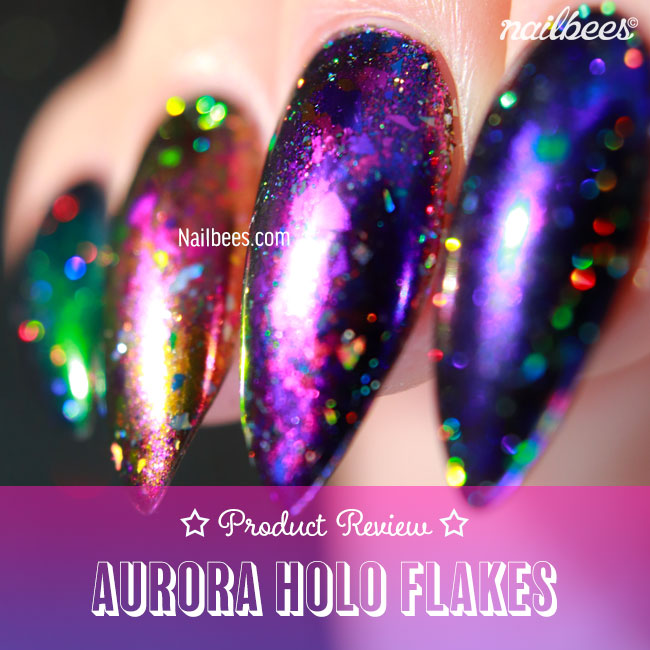 BEAUTYBIGBANG AURORA CHAMELEON HOLO FLAKE REVIEW